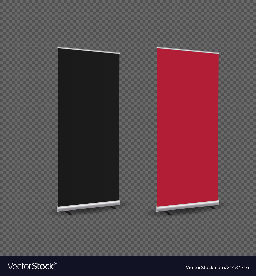Exhibition Stand Roll Up : Exhibition stand roll up banner template vector image