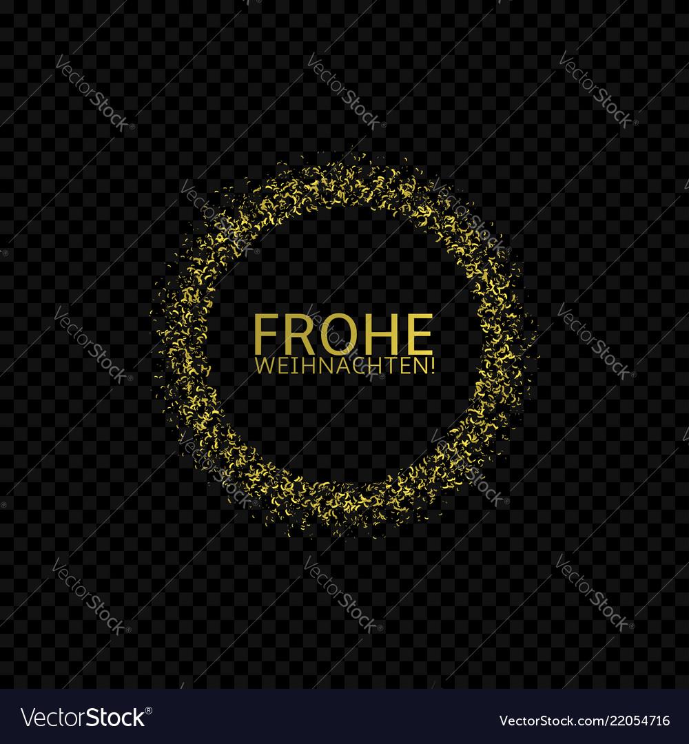 German christmas label