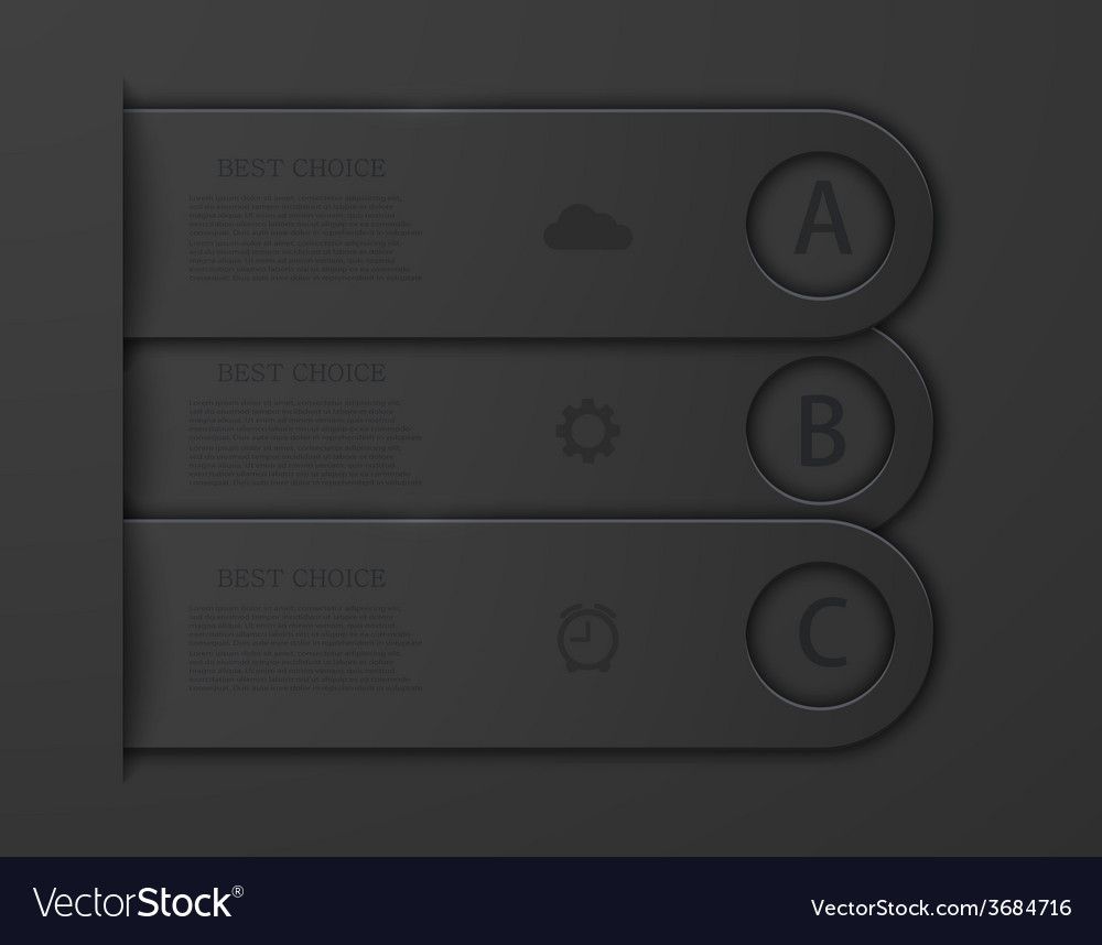 Modern infographic background vector image