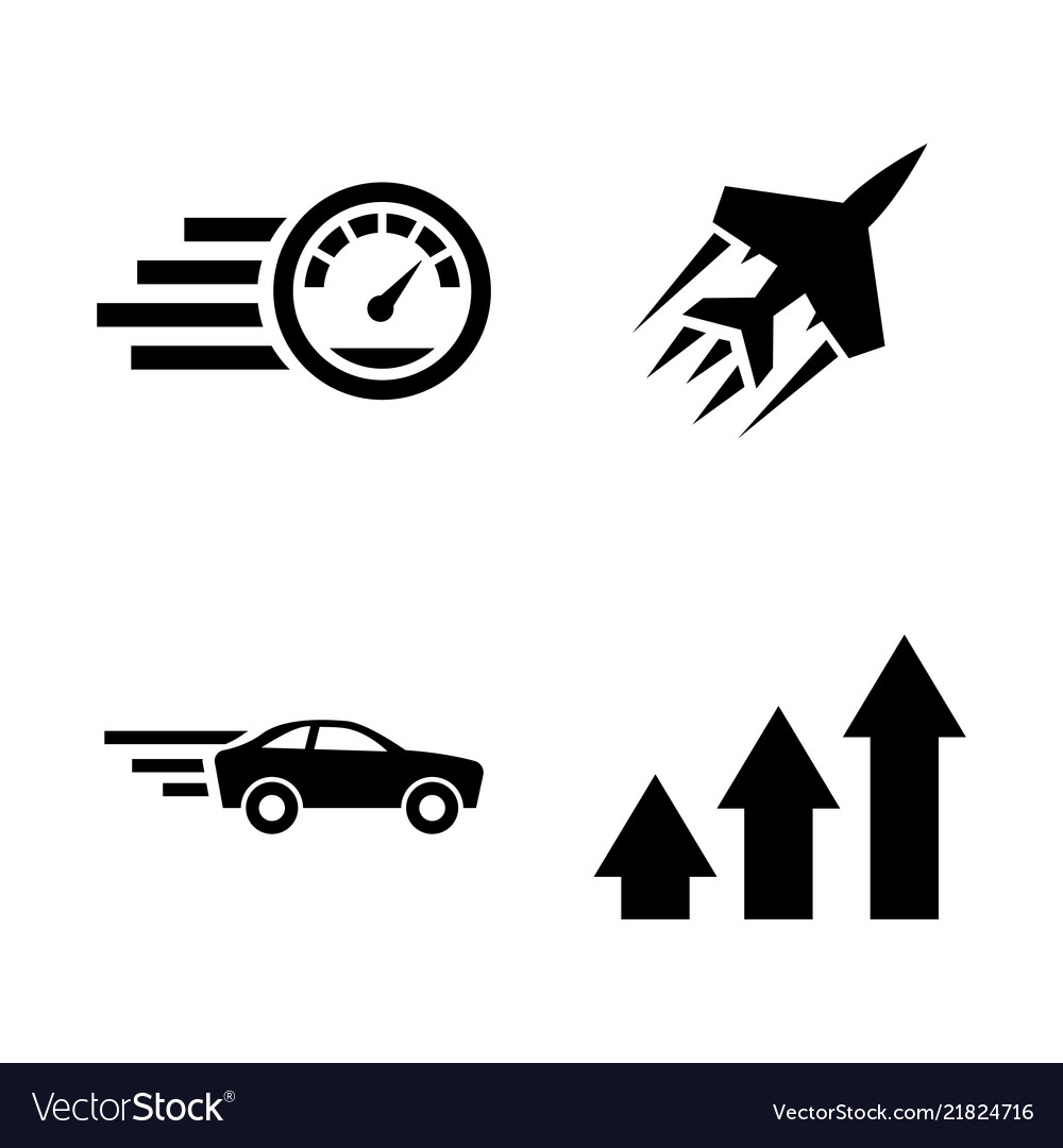 Performance speed simple related icons