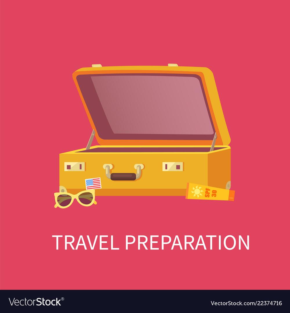 Travel preparation poster