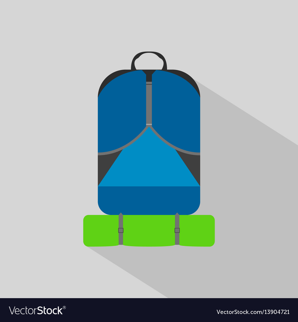 Backpack hiking camping flat icon