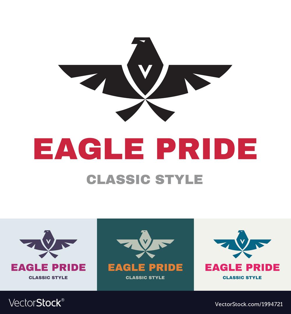 Eagle Pride - Logo in Classic Graphic Style vector image