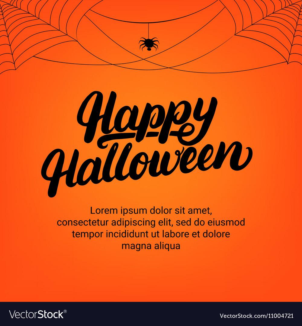 Happy halloween hand written lettering card