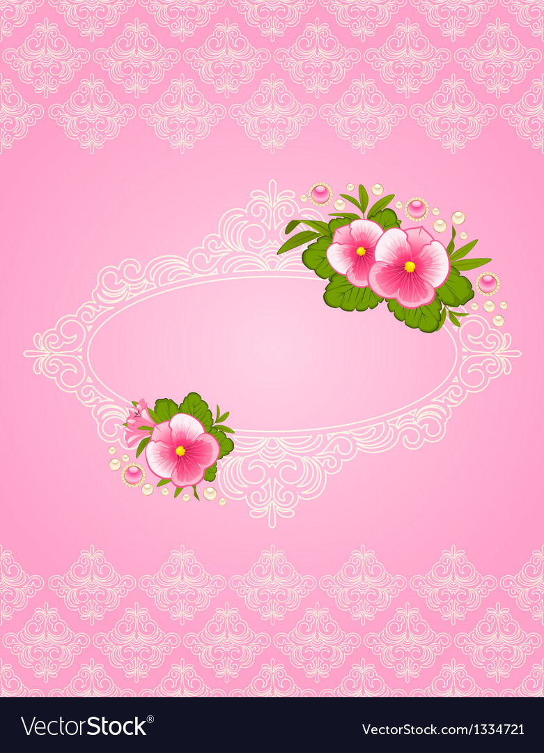 Ornate floral frame