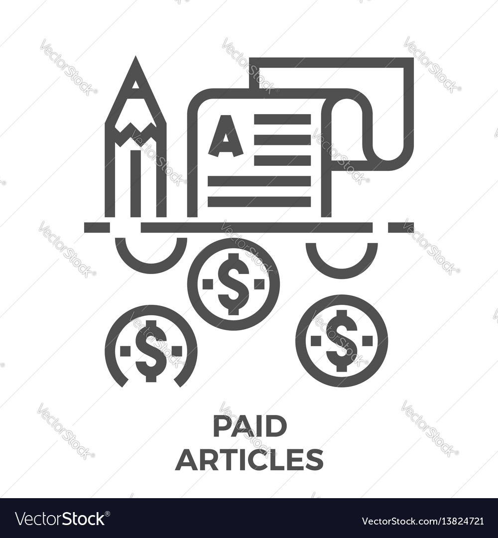 Paid articles icon