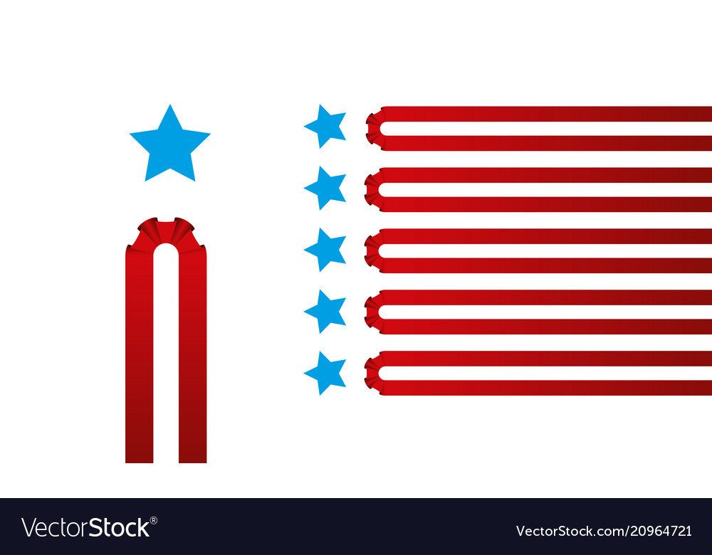 Red stripes and blue stars background