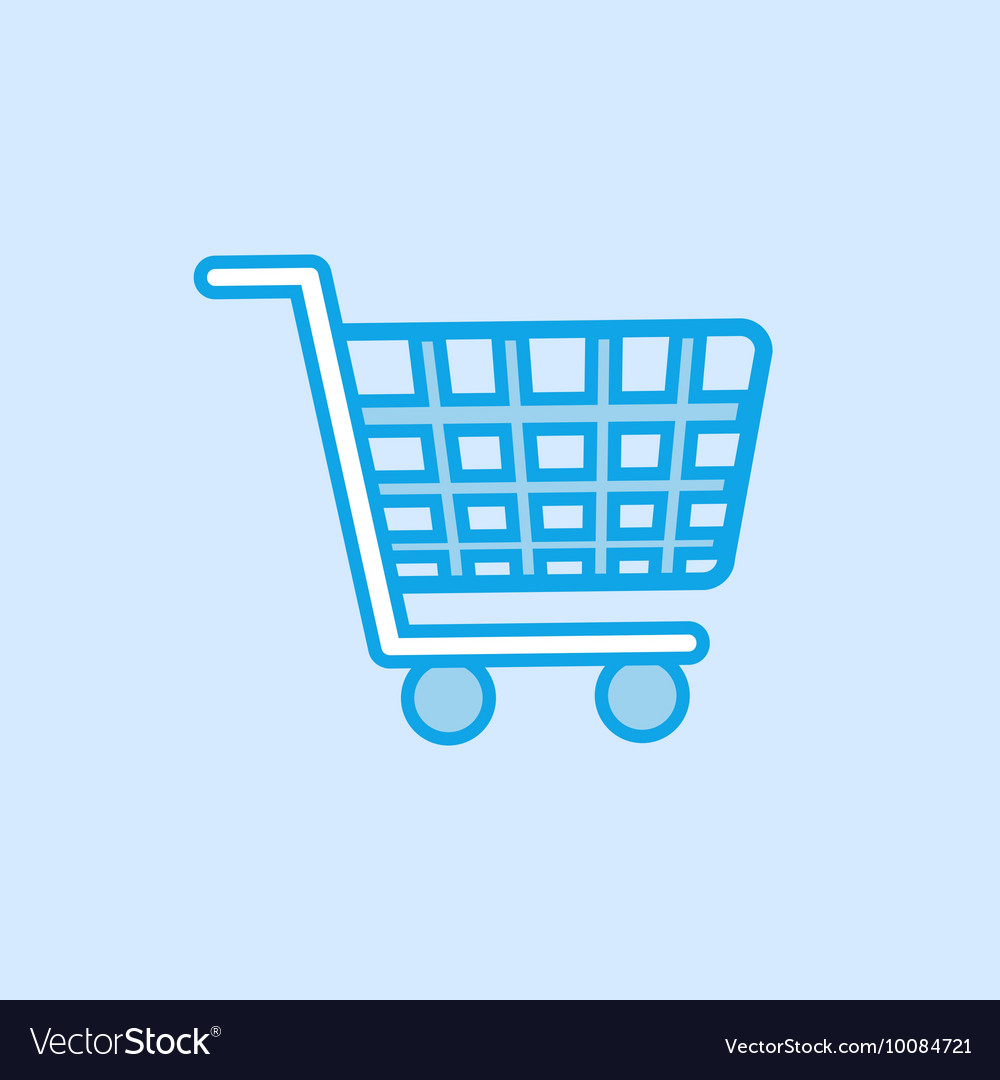 Shopping Trolley Icon Simple Blue