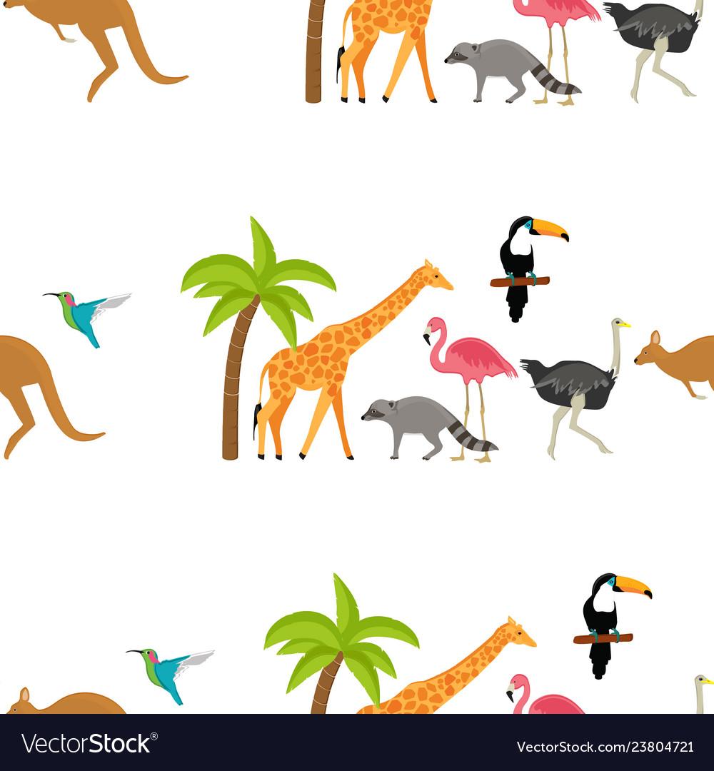 Zoo seamless pattern