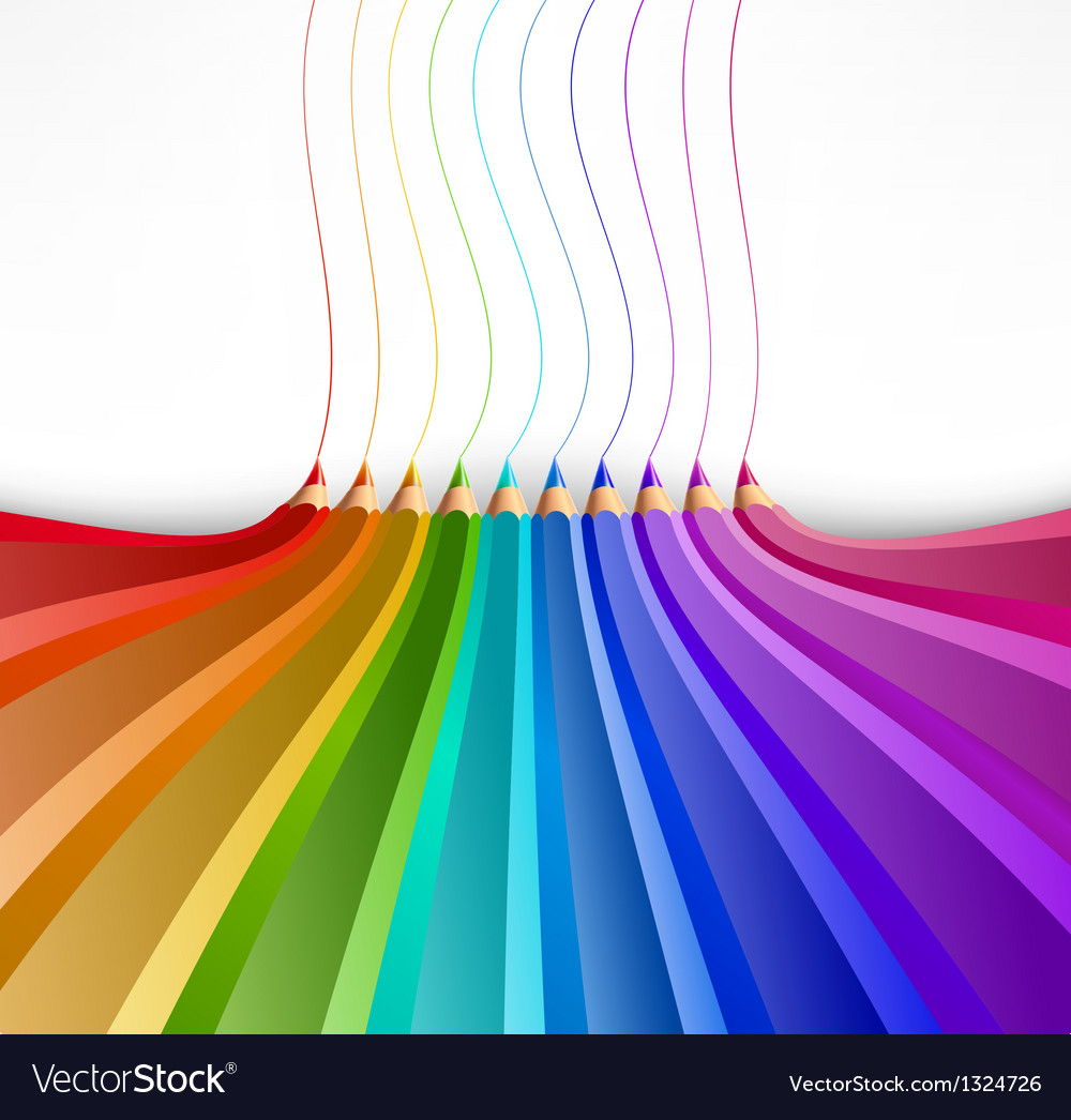 Abstract background with art pencils vector image