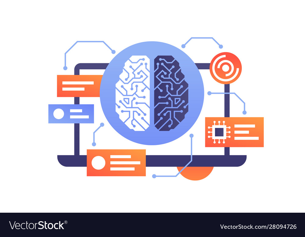 Artificial intelligence modern technology brain