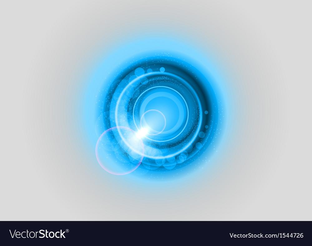 Background blue light center grey vector image