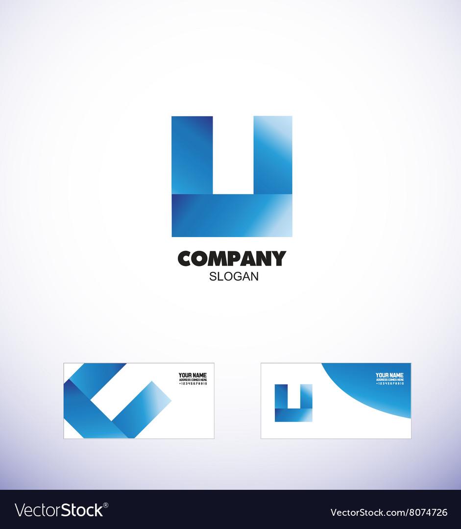Blue letter U logo icon