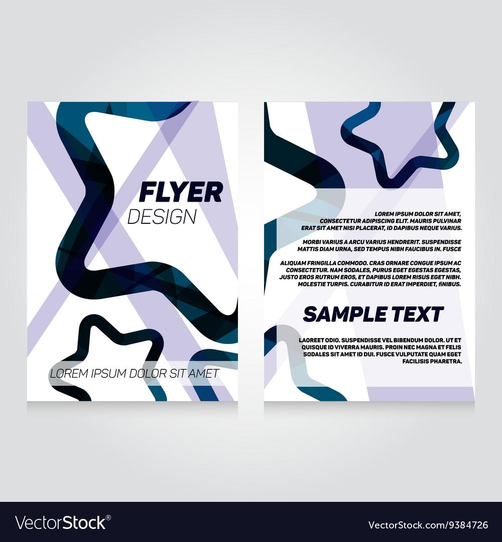 brochure flier design template concert royalty free vector