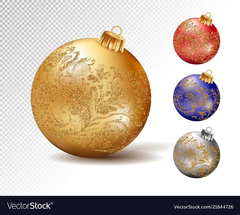 Colorful christmas balls set of isolated