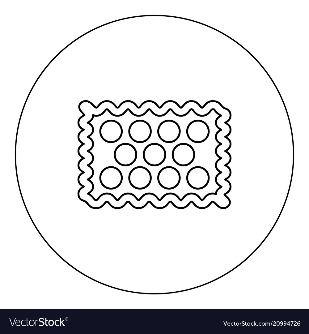 Cookie icon black color in circle isolated