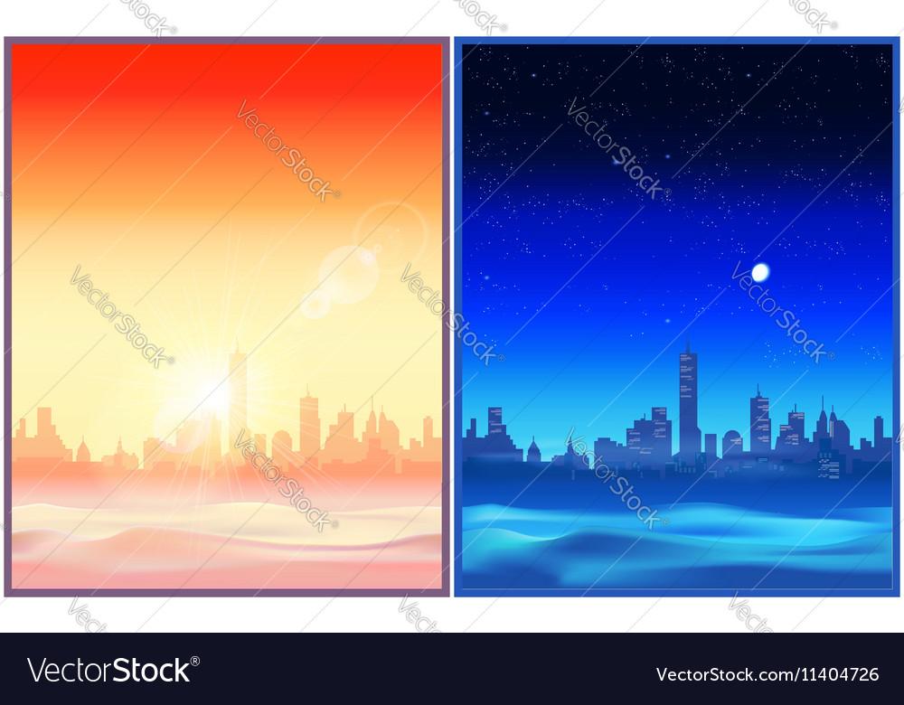 Desert night and evening