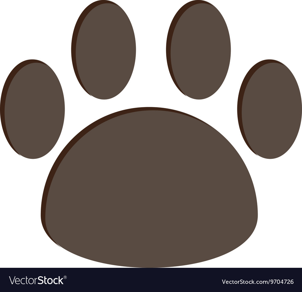 Dog foot print isolated icon design