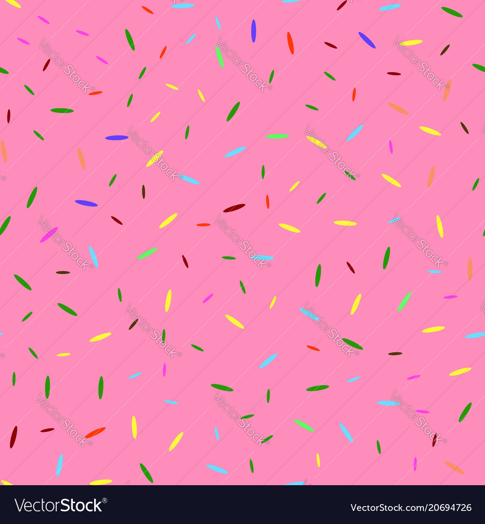 Donut pink texture glaze and colored sprinkles
