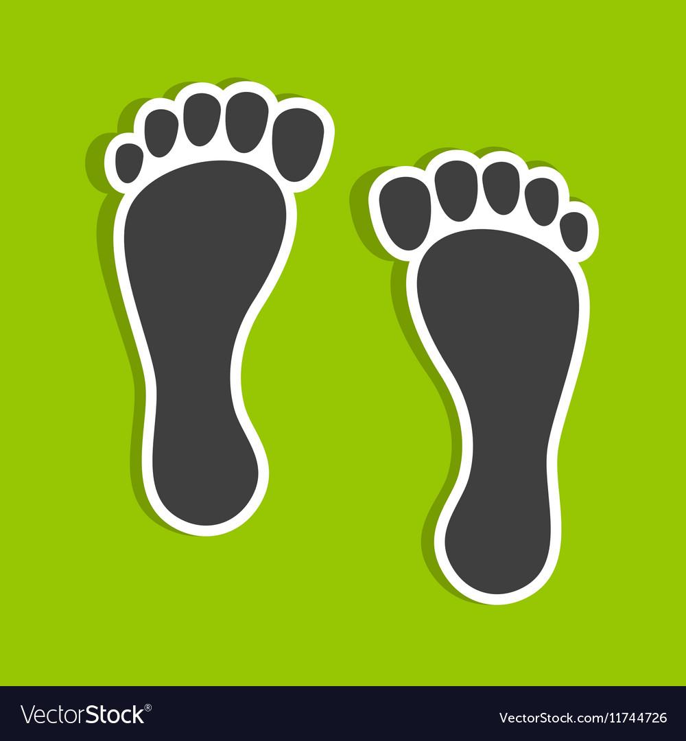 Foot imprints vector image