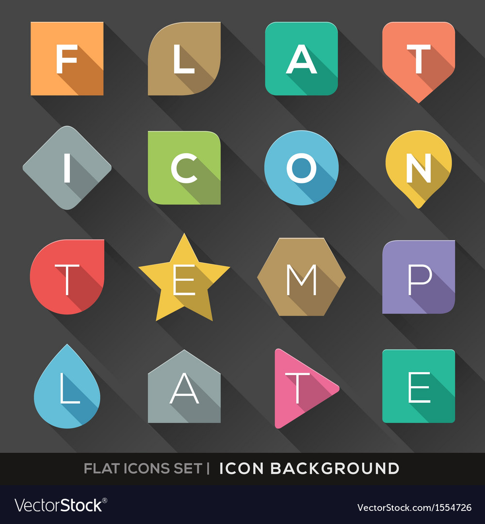 Geometric shapes background for flat icons set