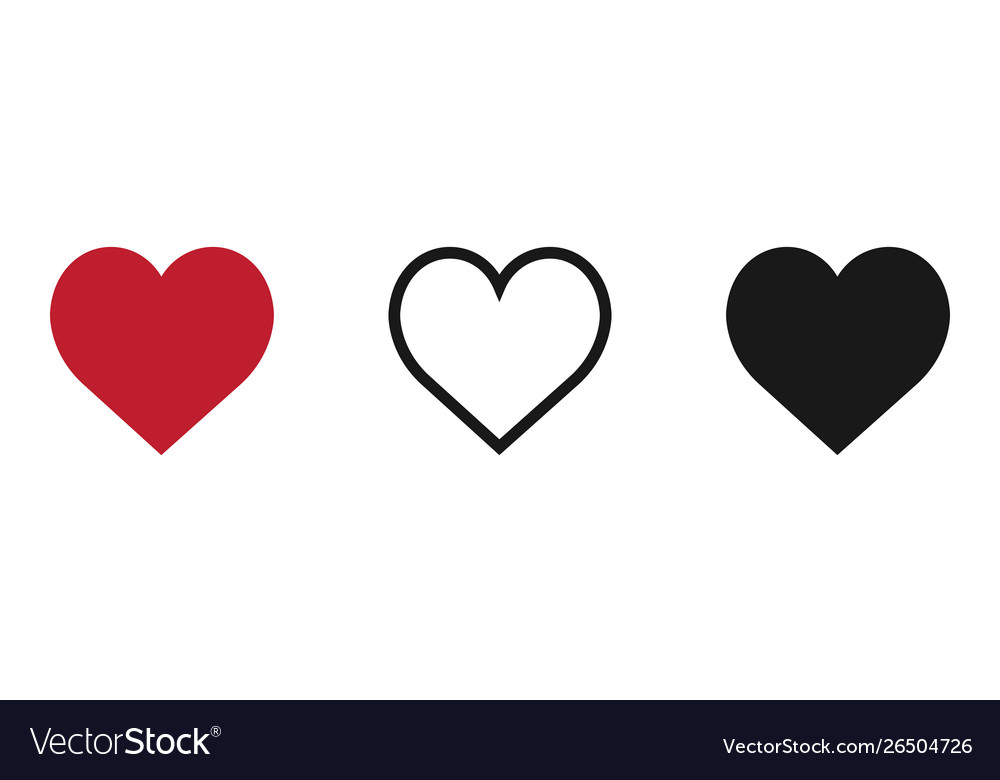 Hearts icon isolated on white background