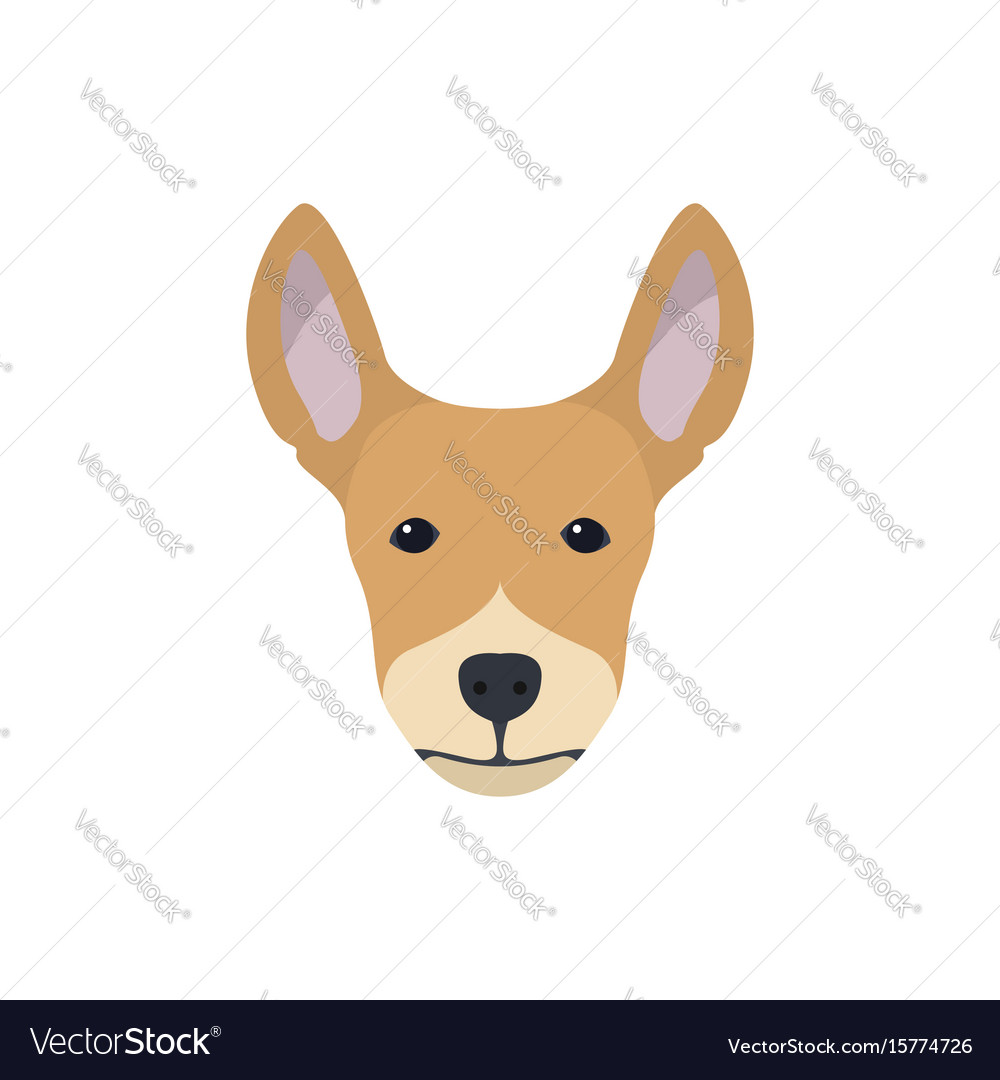 Multicolor simple dog head silhouette