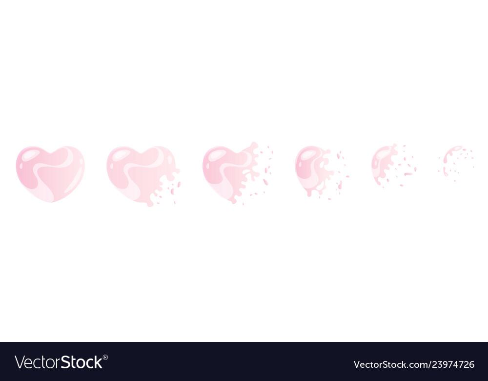 Pink bubble burst sprites