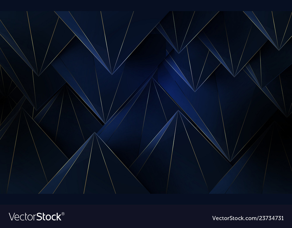 Abstract polygonal pattern luxury background