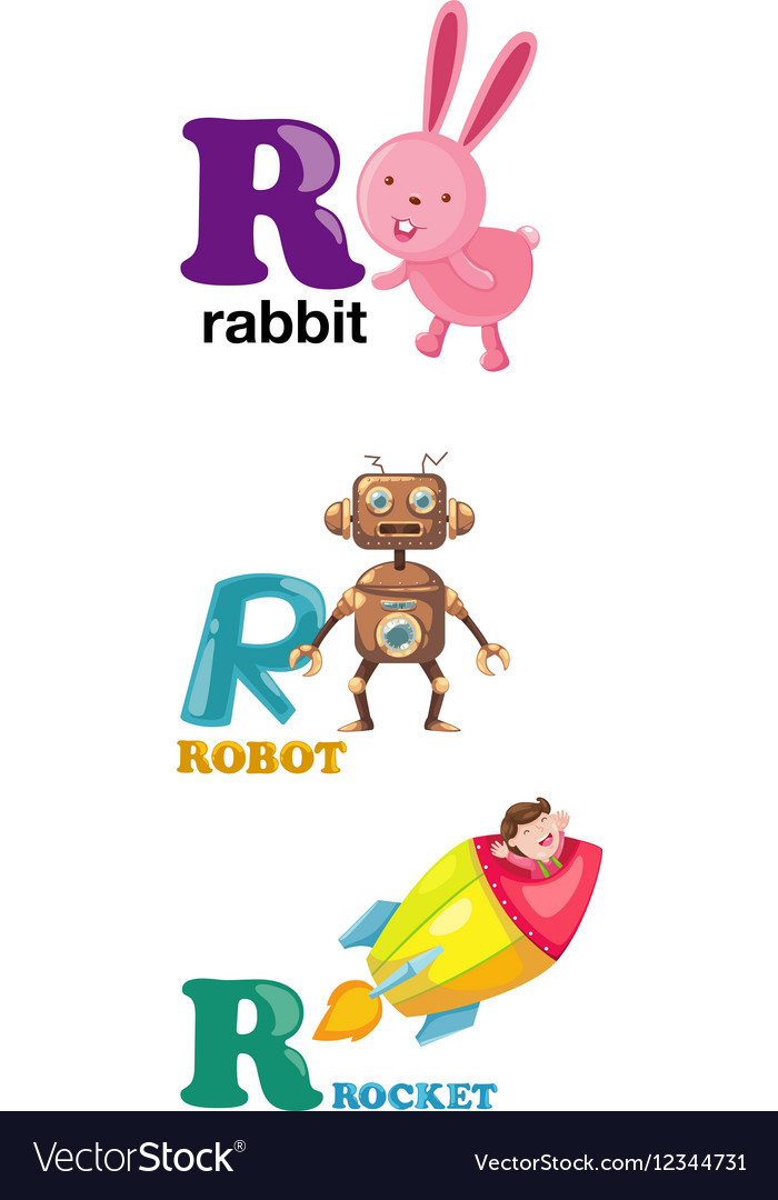 Alphabet letter   R Royalty Free Vector Image   VectorStock