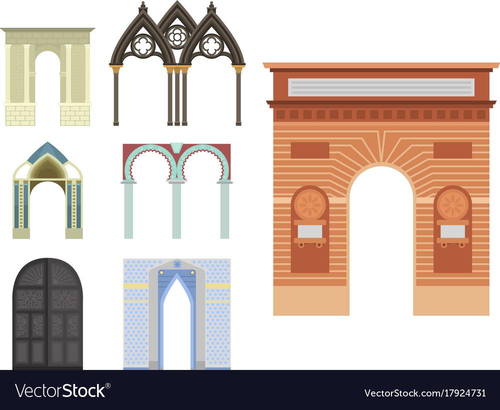 Arch architecture construction frame column