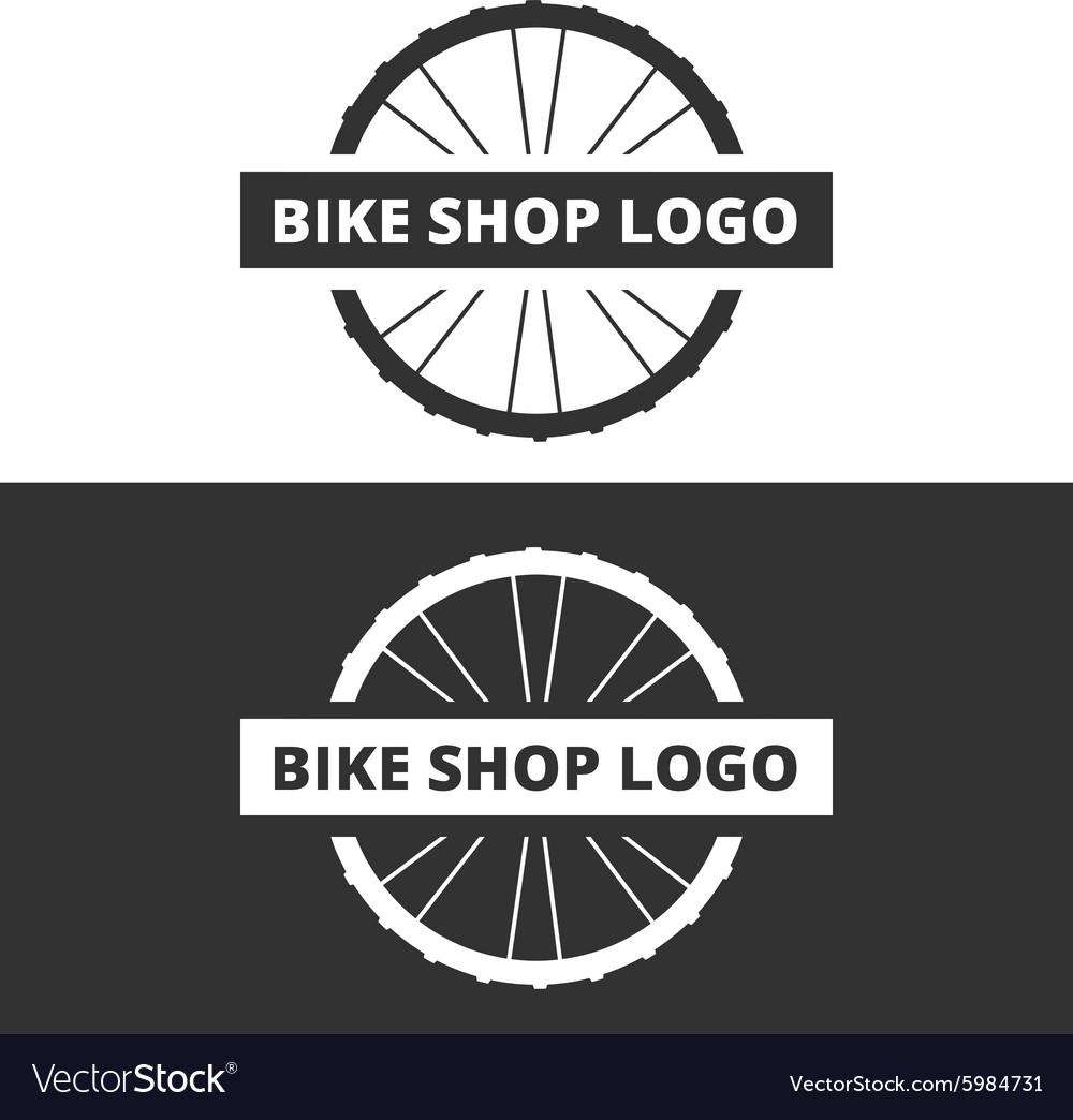 Bike shop logo vector image