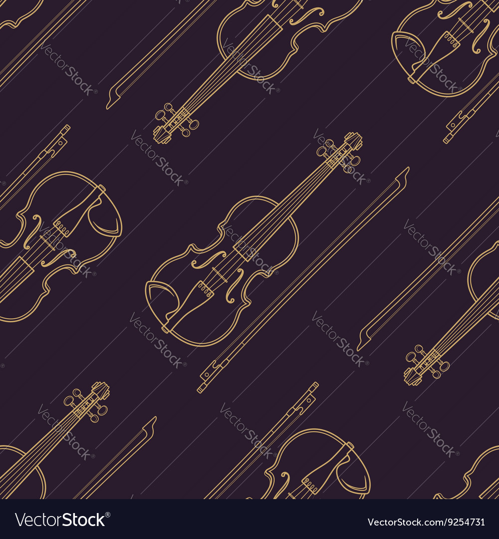 Classical music instruments seamless pattern