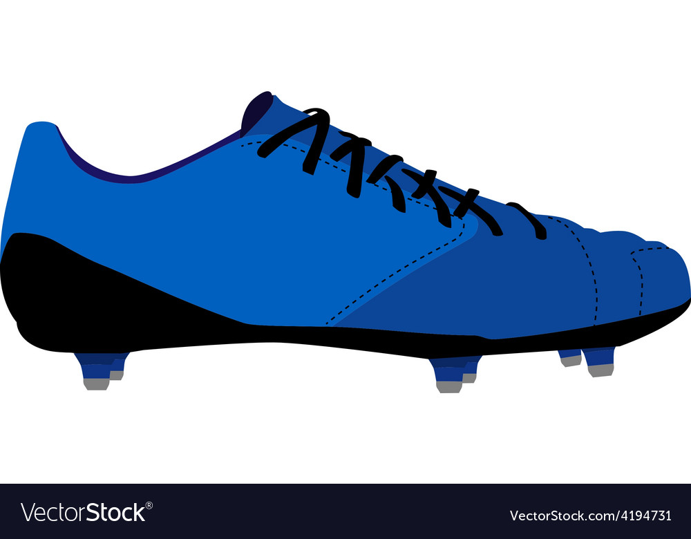 Football shoe vector image