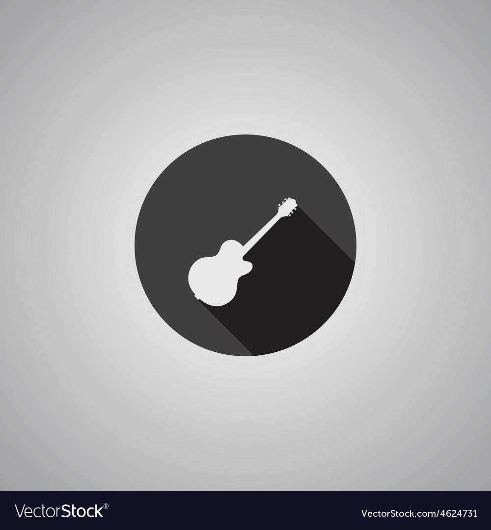 Guitar symbol flat