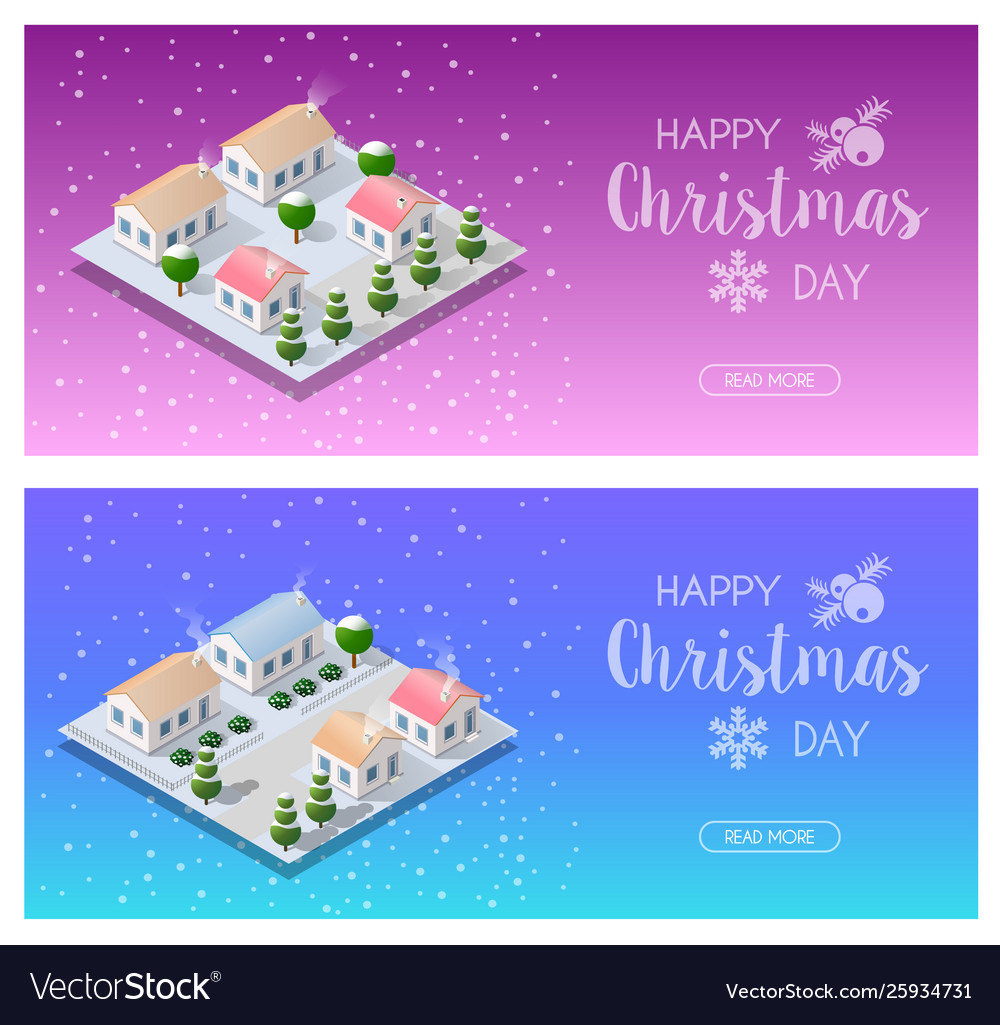 Isometric landscape snow vector