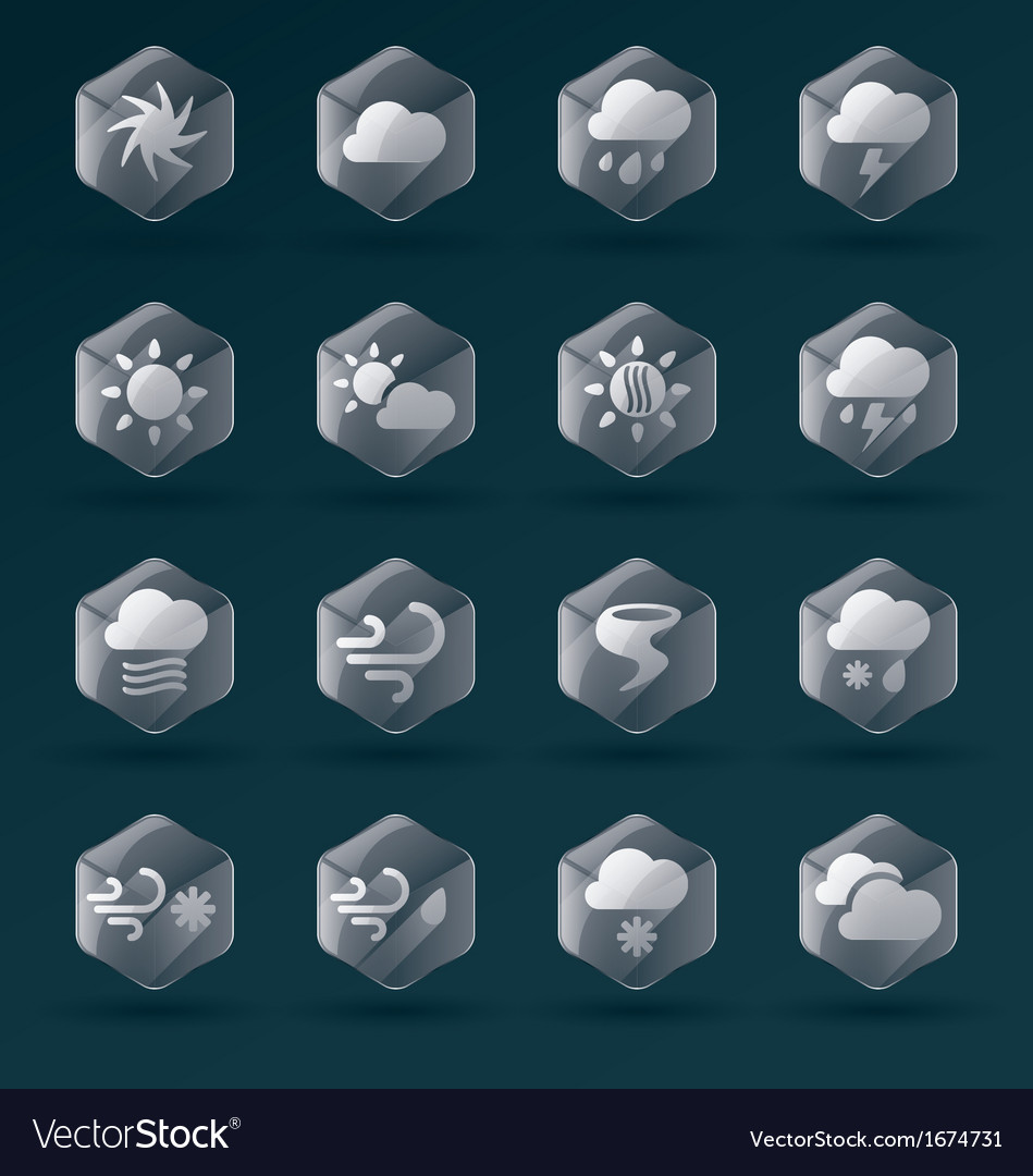 Weather Glass Icons and Symbols