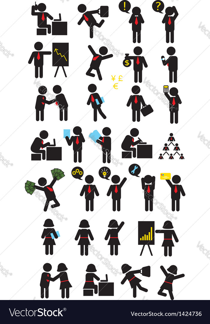 Business Pictogram Icons