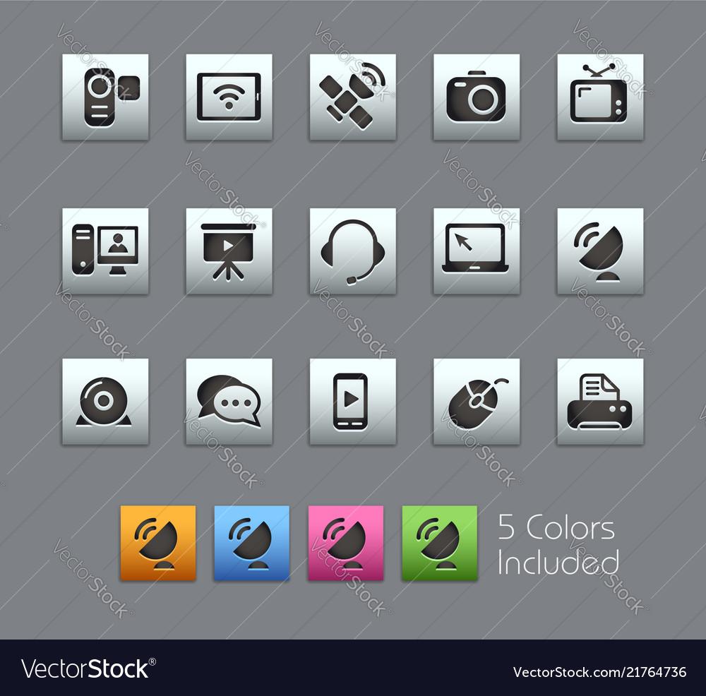 Communication icons - satinbox series