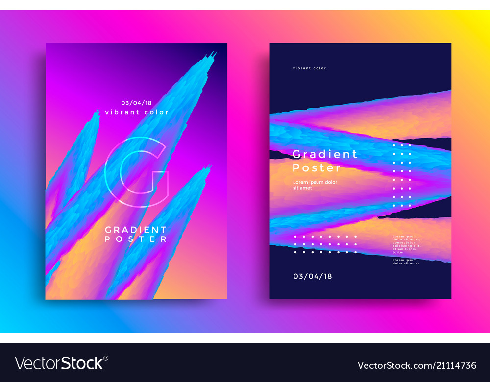 Creative design poster with vibrant gradients