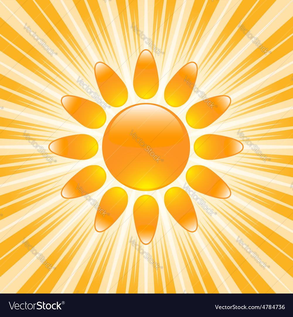 Glossy sun icon