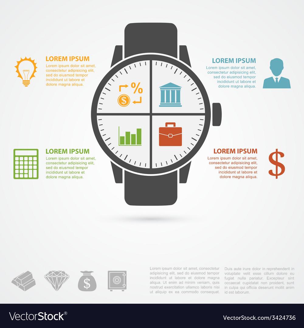 Hand clock infographic