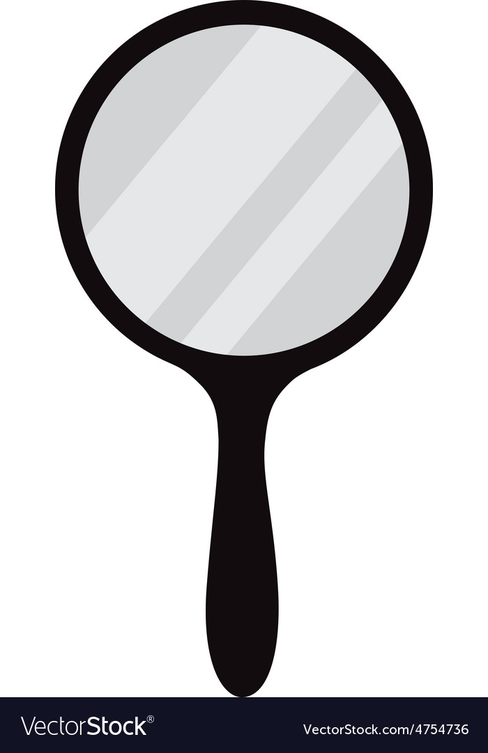 hand mirror. Simple Hand Hand Mirror Vector Image For Mirror