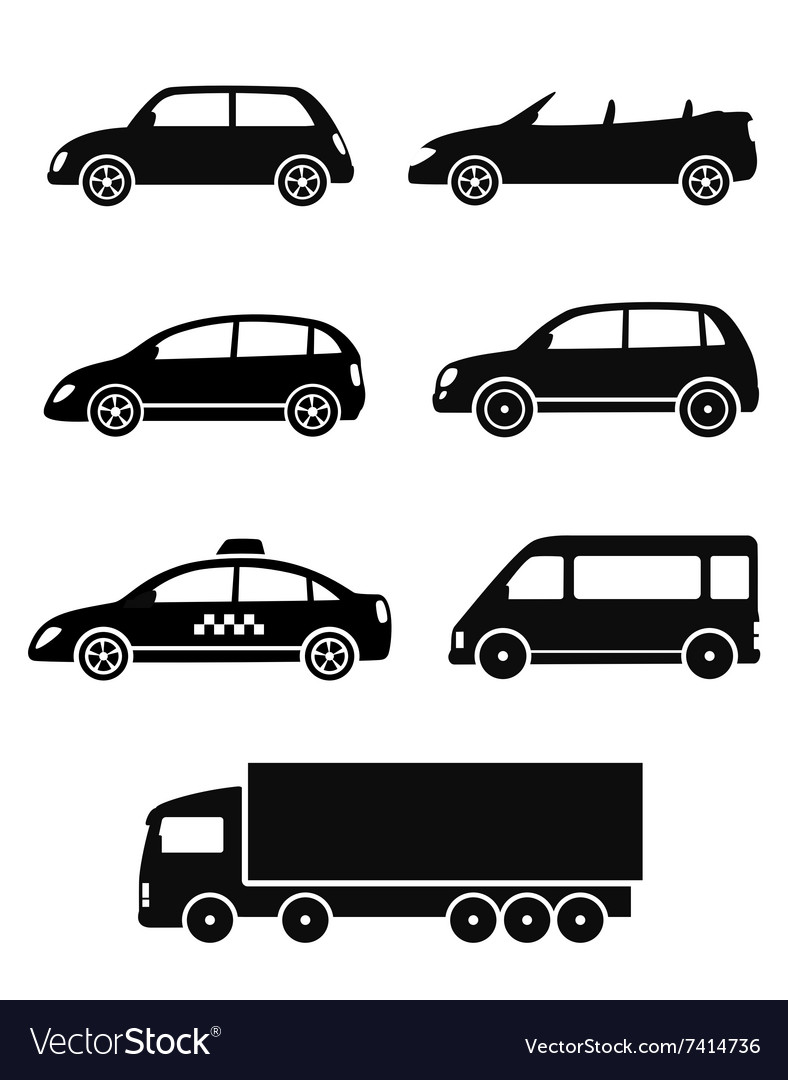 Isolated cars set