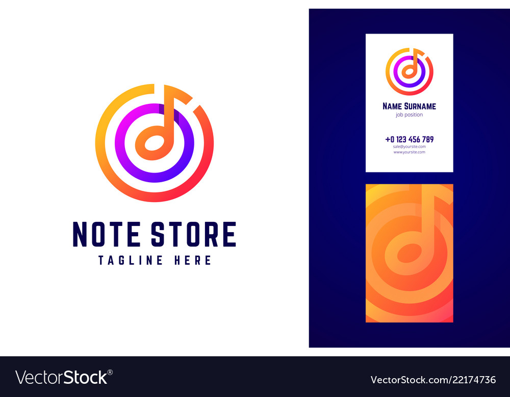 Logo in modern gradient style for music