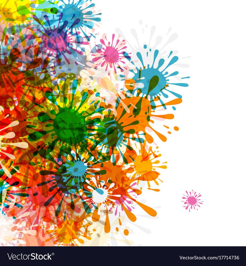 Splashes colorful blots grunge background