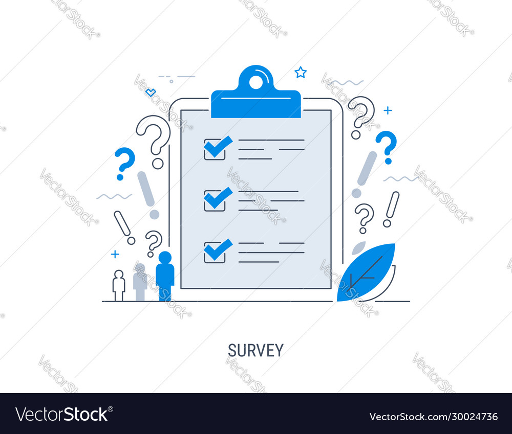 Survey flat concept with quality test and