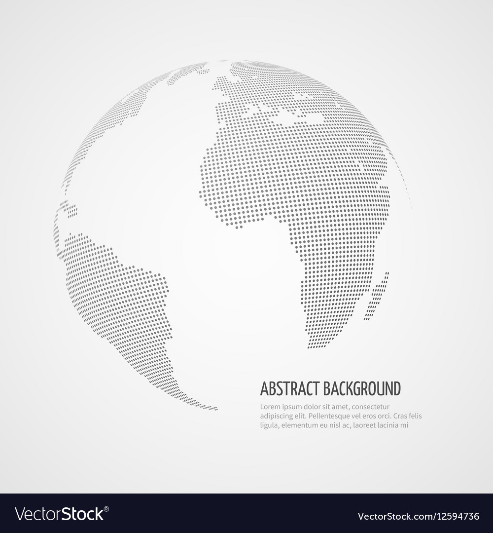 World map infographics template with