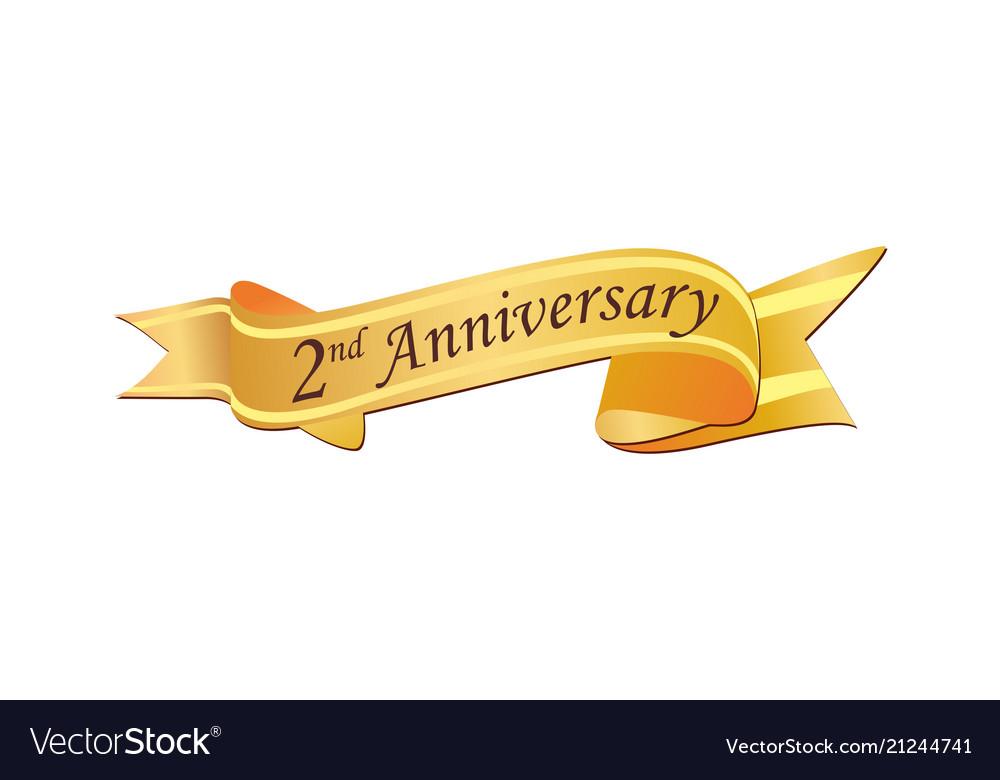 2nd anniversary logo
