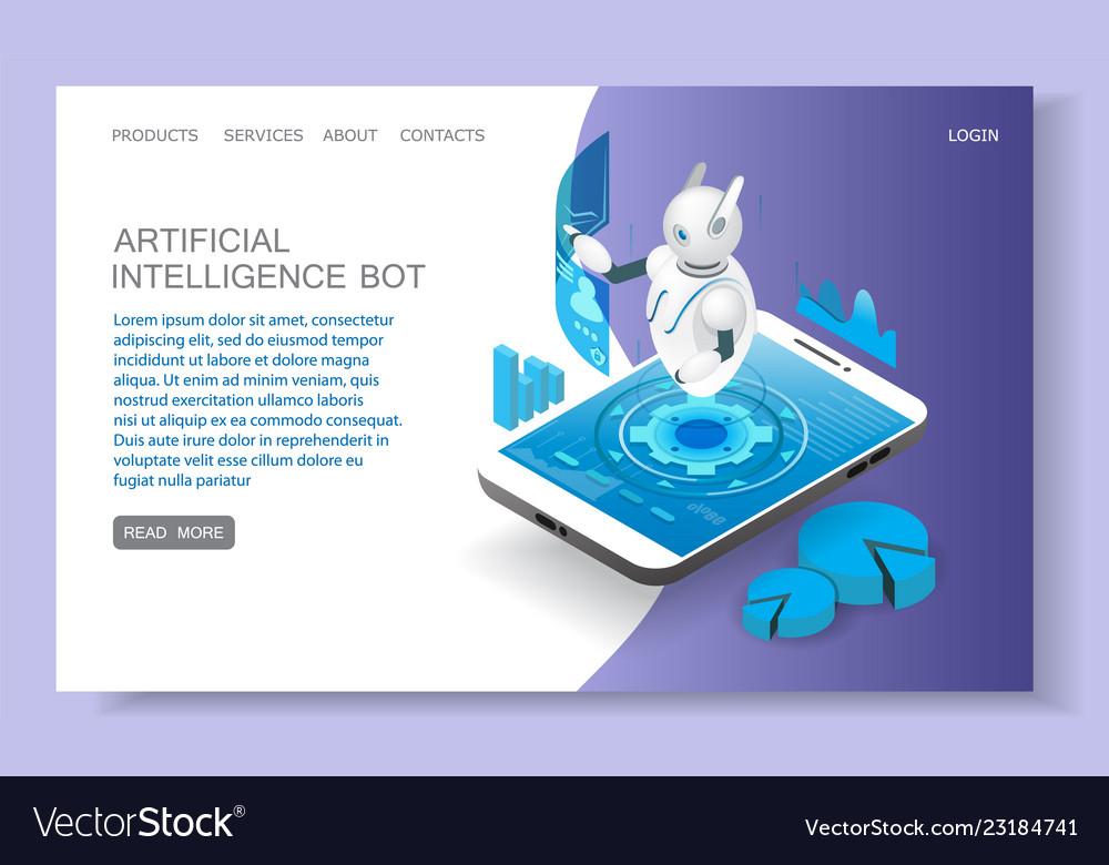 Artificial intelligence landing page website
